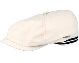 6-Panel Cap Canvas Beige Flat Cap - Stetson
