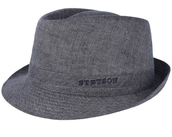 buy sale run shoes buy cheap Geneva Linen Grey Trilby - Stetson hats | Hatstore.co.uk