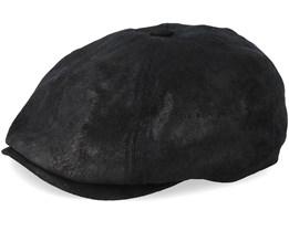 Pigskin 6-Panel Black Flat Cap - Stetson