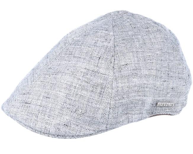 3dc58ab0e475d Texas Linen Heather Grey Flat Cap - Stetson caps - Hatstoreworld.com