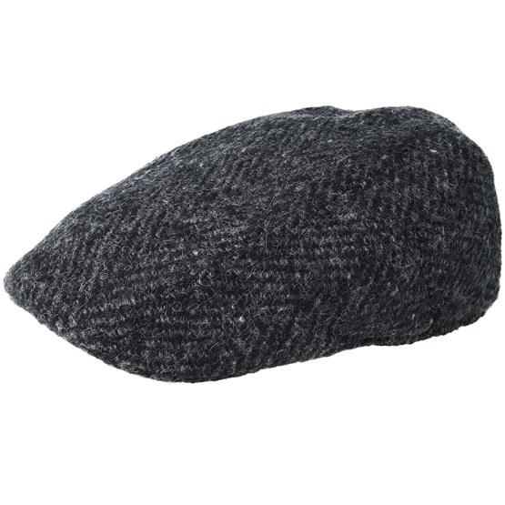 Keps Ivy Herringbone Wool Grey Flat Cap - Stetson - Grå Flat Caps