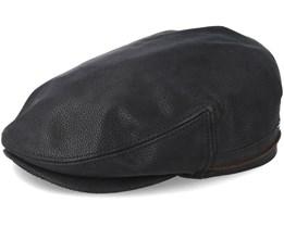 Kent Cowhide Ef Black Flat Cap - Stetson