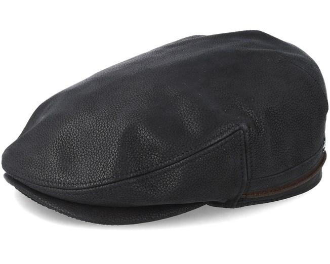 97627af5fcf1f0 Kent Cowhide Ef Black Flat Cap - Stetson caps | Hatstore.co.uk