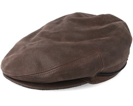 Kent Cowhide Ef Brown Flat Cap - Stetson