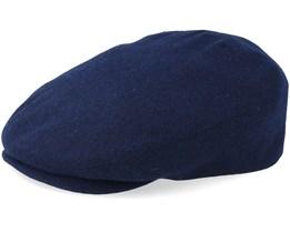 Driver Cap Virgin Wool/Cashmere Navy Flat Cap - Stetson