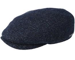 Driver Wool Navy Flat Cap - Stetson