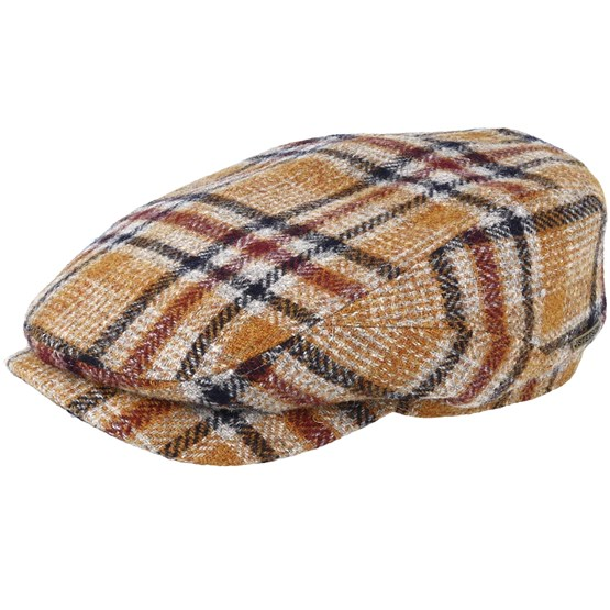 Keps Driver Cap Woolrich Check Brown Flat Cap - Stetson - Brun Flat Caps