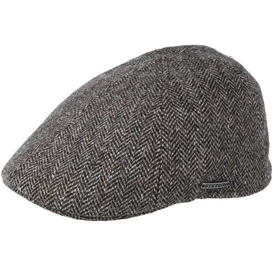 Keps Texas Woolrich Herringbone Brown Flat Cap - Stetson - Brun Flat Caps