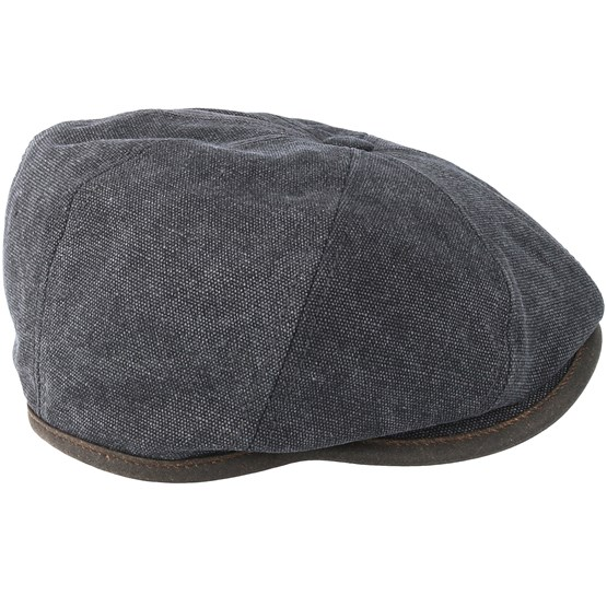 febc34bed Hatteras Canvas Grey Flat Cap - Stetson