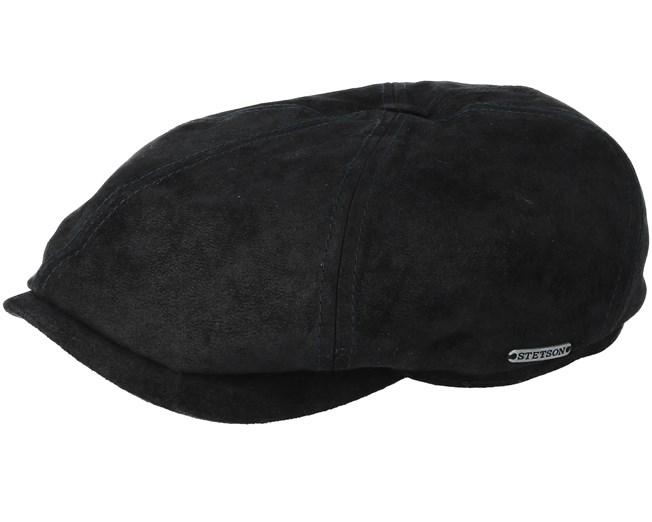 6-Panel Pigskin Black Flat Cap - Stetson caps  2bf6a7480d7