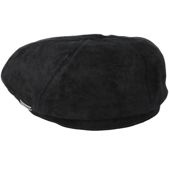 6-Panel Pigskin Black Flat Cap - Stetson caps - Hatstoreworld.com e3926661b094