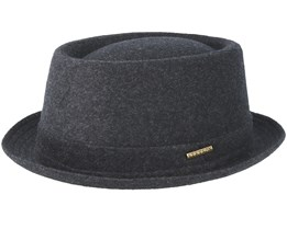 Wool Grey Pork Pie - Stetson