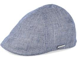 Texas Linen Blue Flat Cap - Stetson