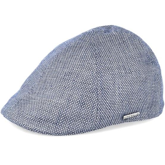 da43f95a3d597 Texas Linen Blue Flat Cap - Stetson caps - Hatstoreworld.com