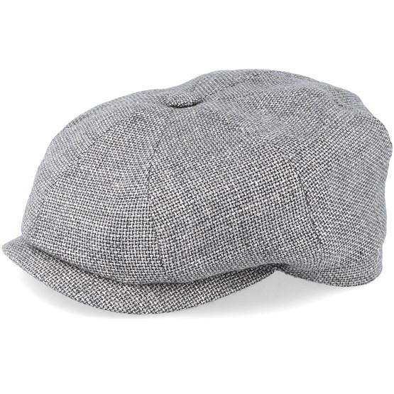 Keps Hatteras Virigin Wool/Silk Grey Flat Cap - Stetson - Grå Flat Caps