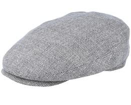 Driver Cap Virgin Grey Wool/Linen Flat Cap - Stetson