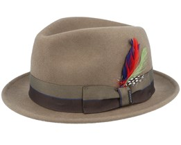 Player Woolfelt Dark Grey Trilby - Stetson