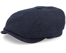 6-Panel Cap Virgin Wool/Cashmere Heather Black Flat Cap - Stetson