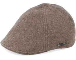 Texas Wool/Cashmere Khaki Flat Cap - Stetson