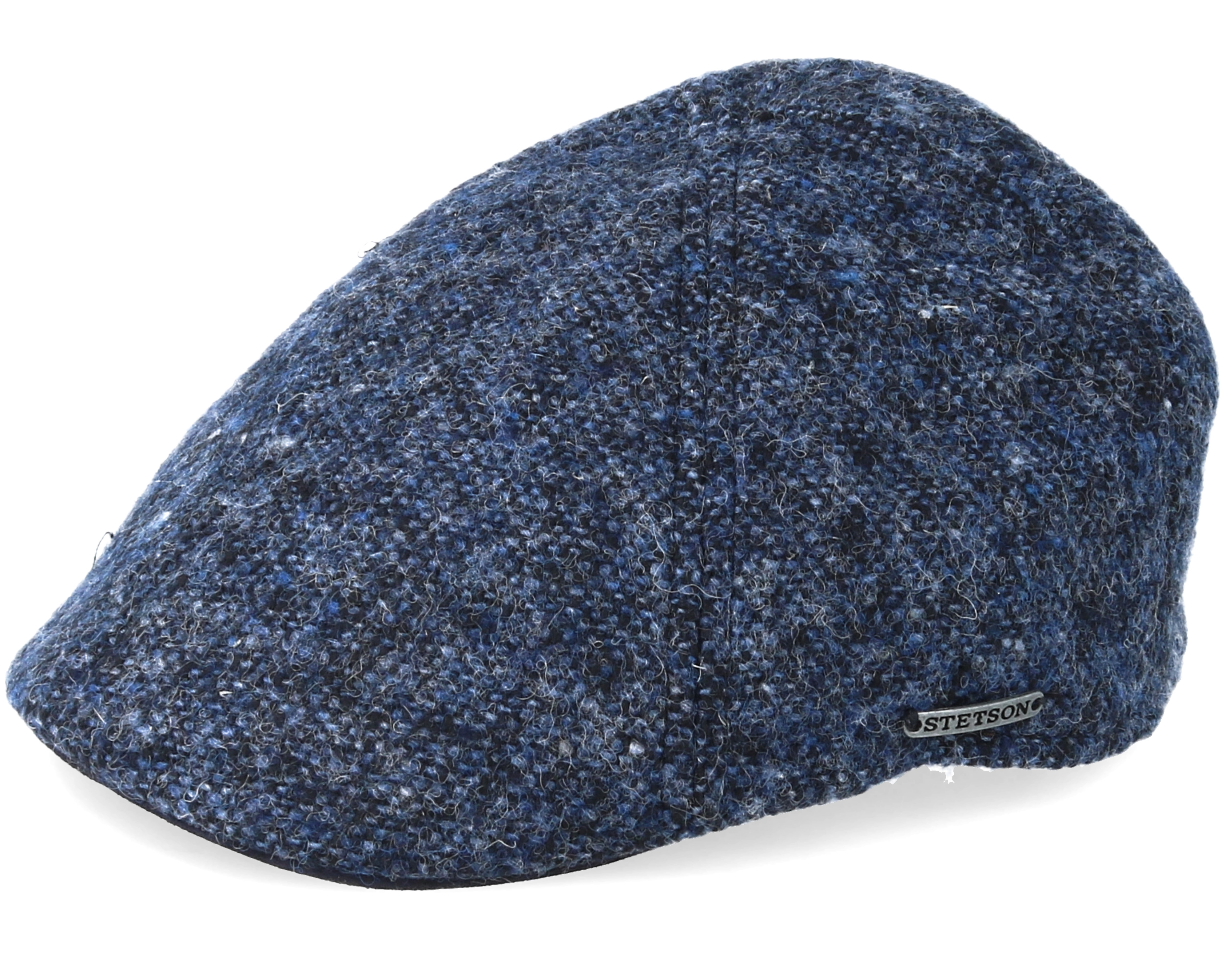 Texas Birgin Wool Goat Donegal Tweed Navy Flat Cap