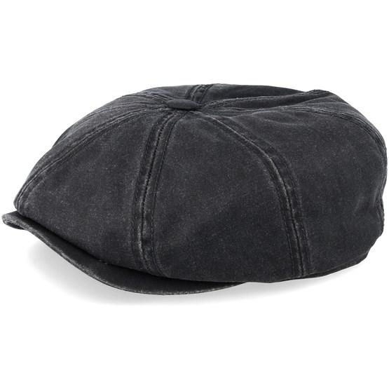 Keps Hatteras Co/Pe Black Flat Cap - Stetson - Svart Flat Caps