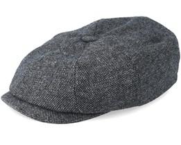 Hatteras Wool Dark Grey Flat Cap - Stetson