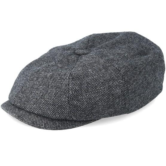 75ec060aa Hatteras Wool Dark Grey Flat Cap - Stetson