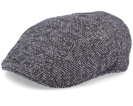 Ivy Cap Virgin Wool Fishgrat Brown/Black Flat Cap - Stetson
