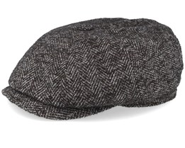 Hatteras Virgin Wool Dark Heather Grey Flat Cap - Stetson