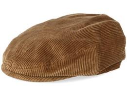 Kent Cord Brown Flat Cap - Stetson