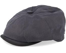 Hatteras Warm Cotton Grey Flat Cap - Stetson