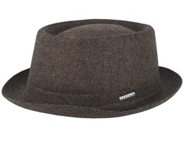 Wool Tweed Brown Pork Pie - Stetson