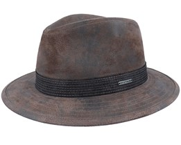 Tller Pigskin Brown Hat - Stetson