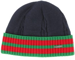 Wool/Acrylic Navy/Green/Red Beanie - Stetson