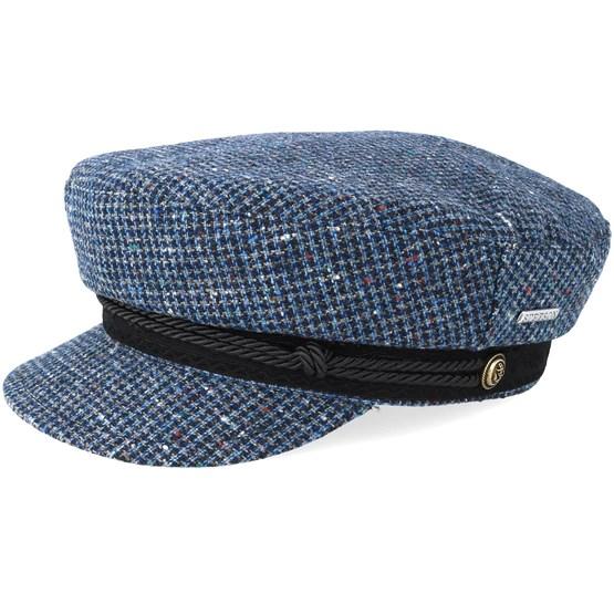 Keps Riders Cap Wool Check Blue/Navy Flat Cap - Stetson - Blå Flat Caps