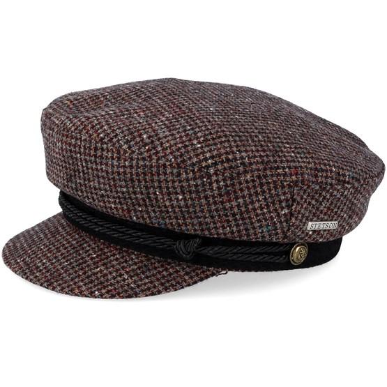Keps Riders Cap Wool Check Brown Flat Cap - Stetson - Brun Flat Caps