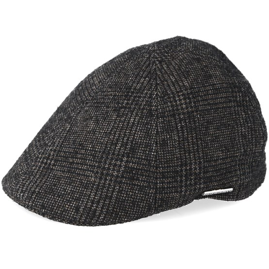 Keps Texas Wool Brown/Black Flat Cap - Stetson - Brun Flat Caps
