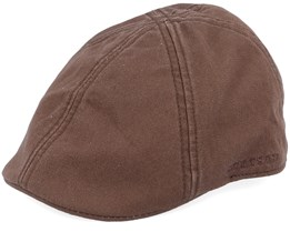 Texas Cotton Brown Flat Cap - Stetson