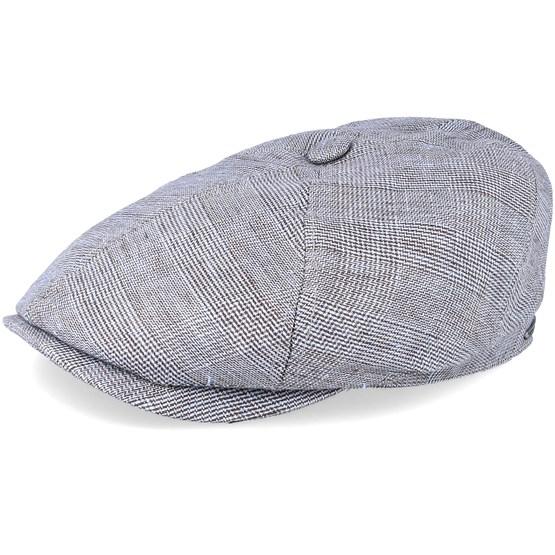 Keps 6-Panel Linen Grey Flat Cap - Stetson - Grå Flat Caps