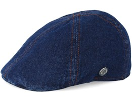 Texas Denim Navy Flat Cap - Stetson