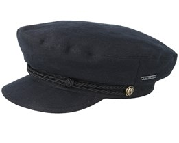 Riders Cap Linen Black Flat Cap - Stetson