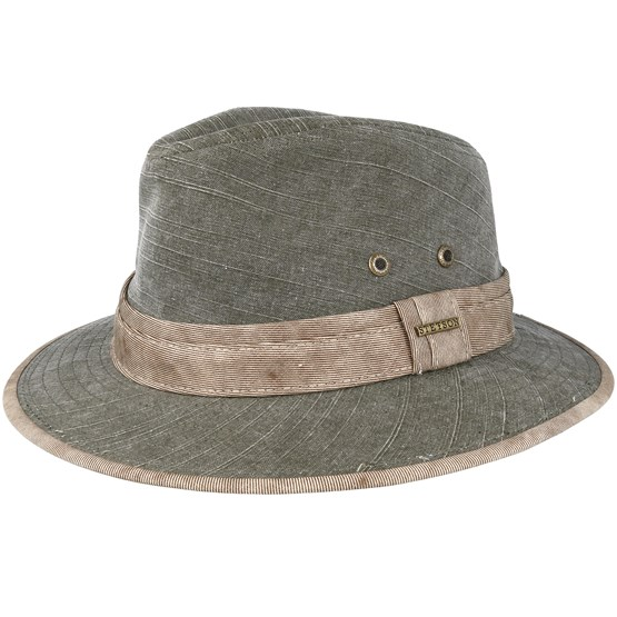 Hatt Cotton Olive Traveller - Stetson - Grön Traveller
