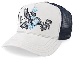 Bird White/Navy Trucker - Stetson