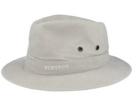 Delave Organic Cotton Light Beige Fedora - Stetson