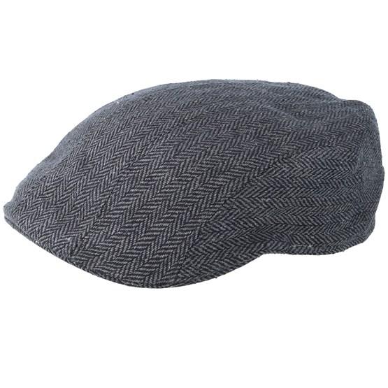 Keps Ivy Cap Silk Fishgrat Grey Flat Cap - Stetson - Grå Flat Caps