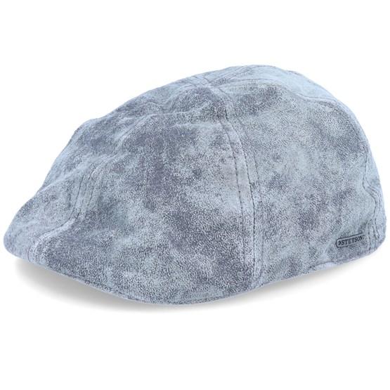 Keps Texas Pig Skin Grey Flat Cap - Stetson - Grå Flat Caps