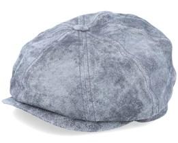 Hatteras Pigskin Grey/Silver Flat Cap - Stetson