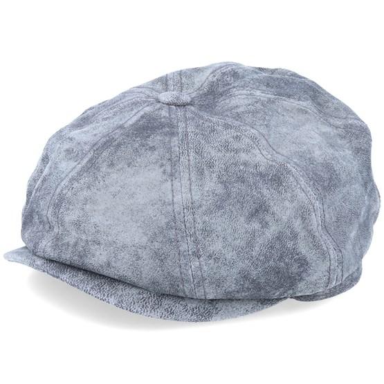 Keps Hatteras Pigskin Grey/Silver Flat Cap - Stetson - Grå