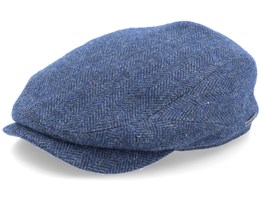 Driver Cap Wool Herringbone Fishgrat Navy Flat Cap - Stetson