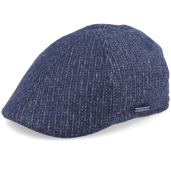 Keps Texas Cotton Pinstripe Black Flat Cap - Stetson - Svart Flat Caps